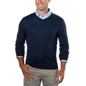 Calvin Klein Navy Blue Fine Merino Wool Sweater